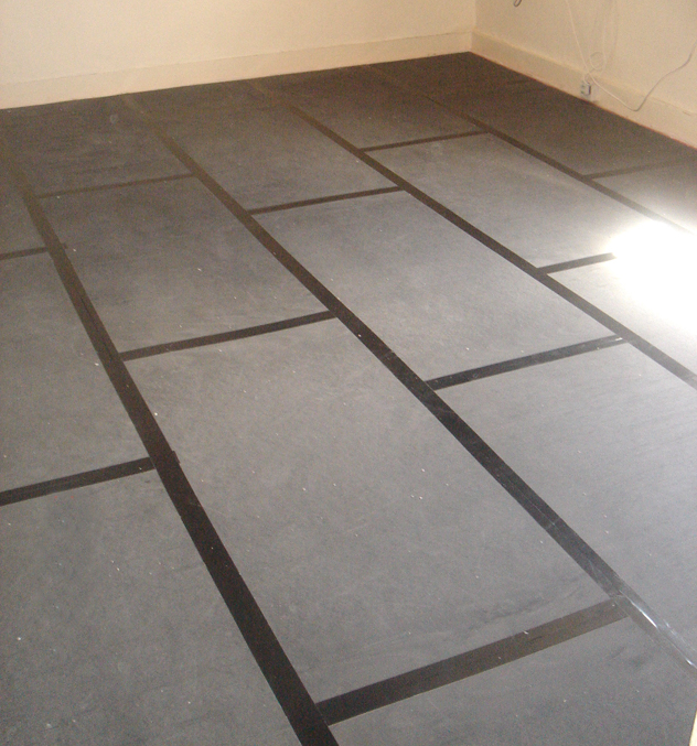 QuietFloor PLUS acoustic underlay installed onto a separating floor brick pattern