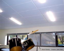 Echosorption Plus sound absorption on ceiling